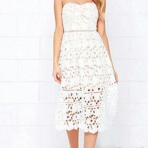 Lulus Lace Crochet Lace Midi Large Dress